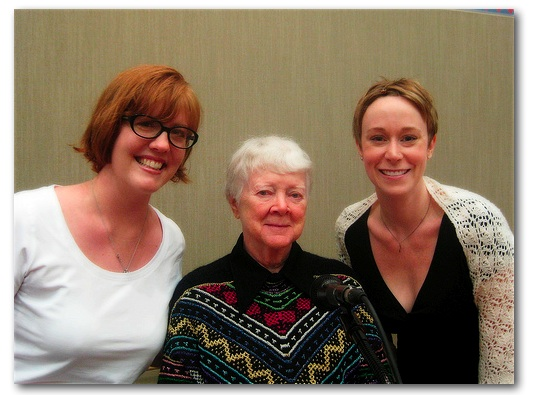 MH and Jess with BARBARA WALKER!! OMG!
