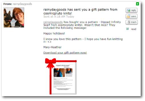 pattern gift ravmail