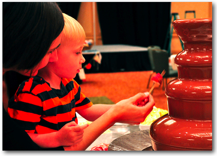 Cam and the Chocolate Fountain